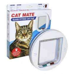 Cam için kedi kapısı (Yuvarlak)